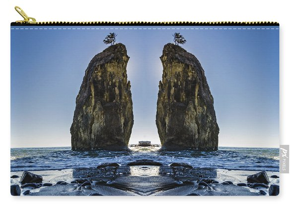 Rialto Beach Sea Stack Reflection Carry-all Pouch