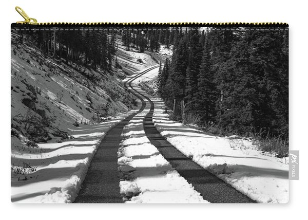 Ribbon To The Unknown Monochrome Art By Kaylyn Franks Carry-all Pouch