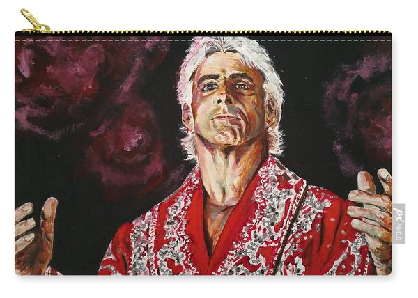 Carry-all Pouch featuring the painting Ric Flair by Joel Tesch