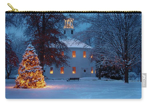 Richmond Vermont Round Church At Christmas Carry-all Pouch