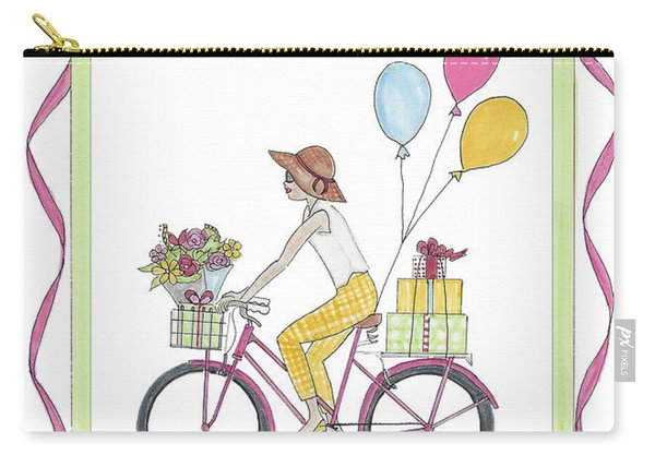 Ride In Style - Happy Birthday Carry-all Pouch