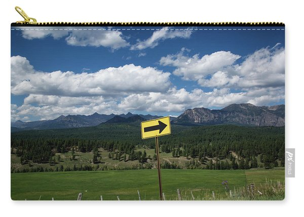 Carry-all Pouch featuring the photograph Right This Way by Jason Coward