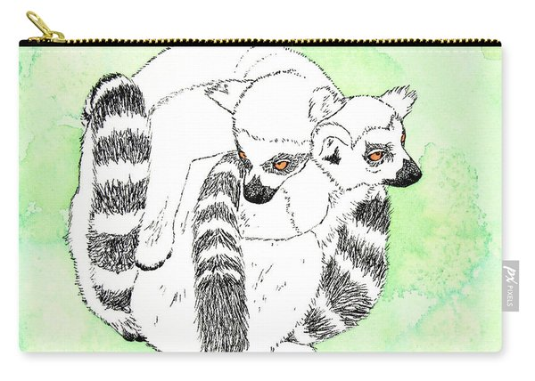 Ring-tailed Lemur Huddle Carry-all Pouch