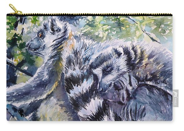 Ring-tailed Lemurs 13 Carry-all Pouch