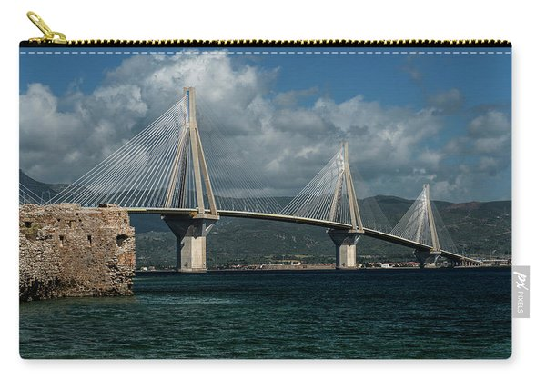 Carry-all Pouch featuring the photograph Rio-andirio Hanging Bridge by Jaroslaw Blaminsky