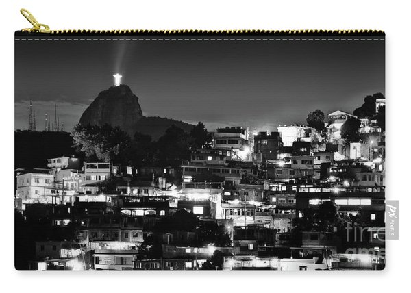 Rio De Janeiro - Christ The Redeemer On Corcovado, Mountains And Slums Carry-all Pouch