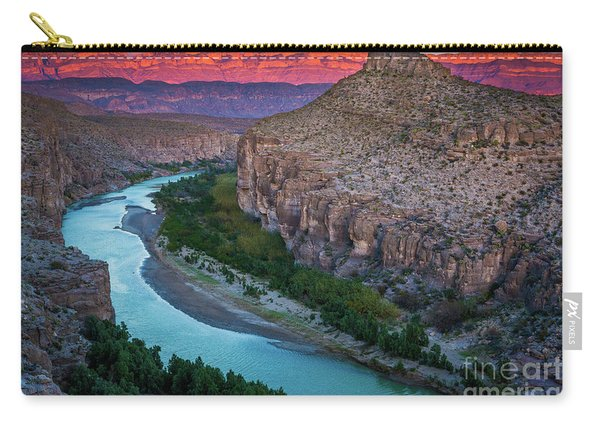 Rio Grande At Dusk Carry-all Pouch