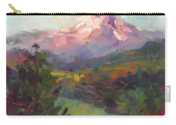 Carry-all Pouch featuring the painting Rise And Shine by Talya Johnson