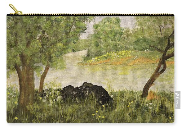 River Bend In Spring Carry-all Pouch