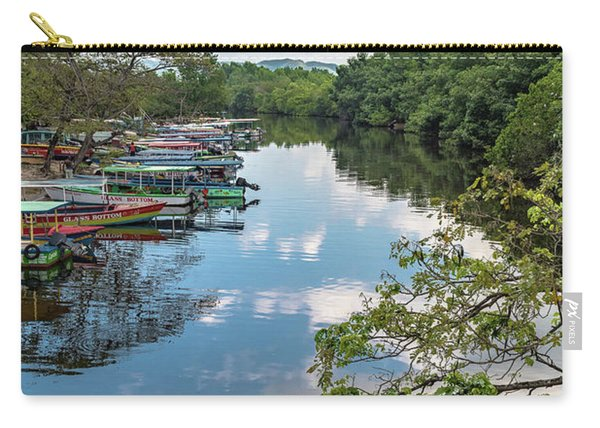 River Boats Docked In Negril, Jamaica Carry-all Pouch
