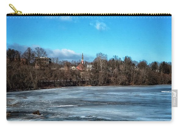 Carry-all Pouch featuring the photograph River Ice by Tom Singleton