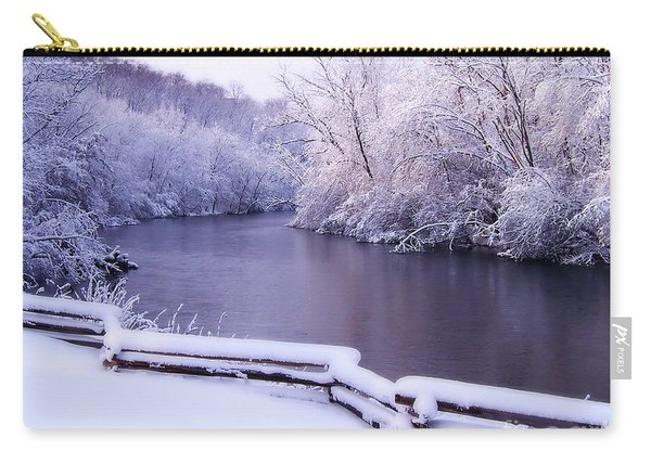 River In Winter Carry-all Pouch