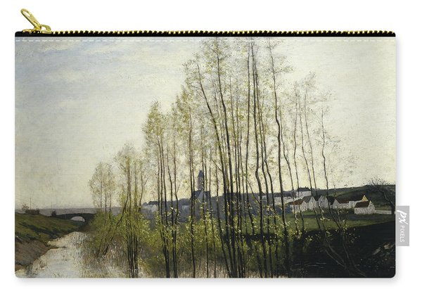 River Landscape, Champagne, 1876 Carry-all Pouch