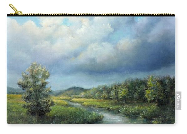 River Landscape Spring After The Rain Carry-all Pouch