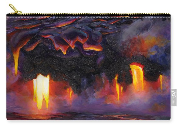 River Of Fire - Kilauea Volcano Eruption Lava Flow Hawaii Contemporary Landscape Decor Carry-all Pouch