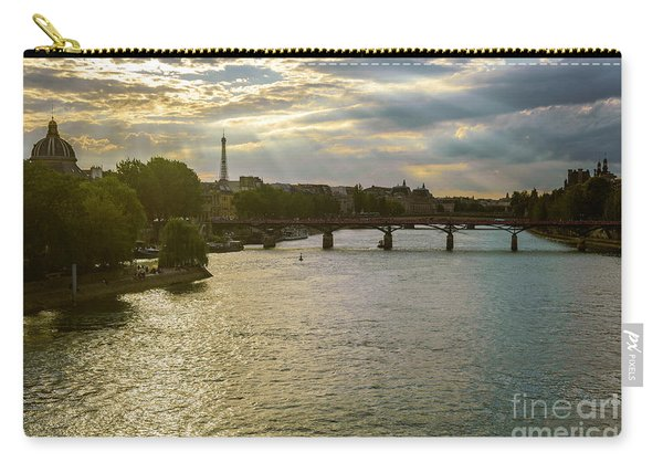 River Seine At Dusk Carry-all Pouch