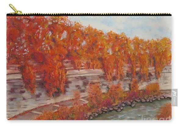 River Tiber In Fall Carry-all Pouch