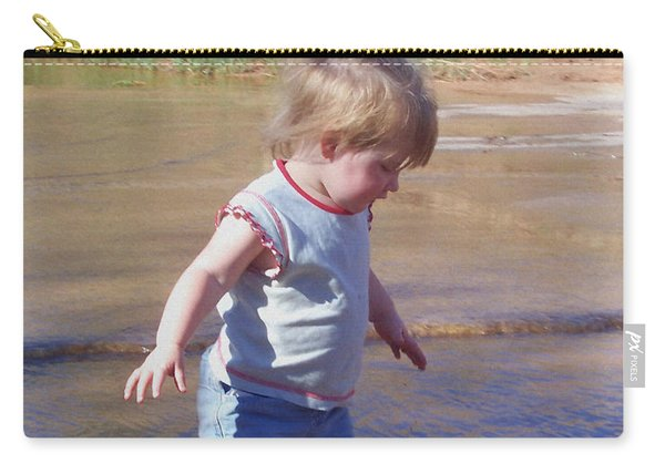 Carry-all Pouch featuring the photograph River Wading by Deleas Kilgore