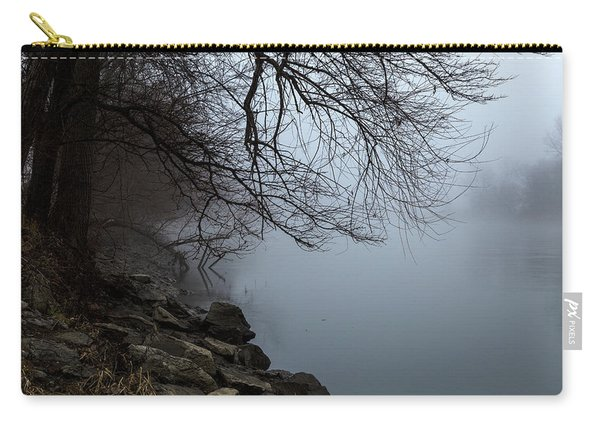 Riverbank In The Fog Carry-all Pouch