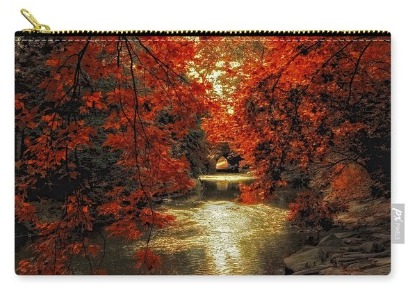 Riverbank Red Carry-all Pouch