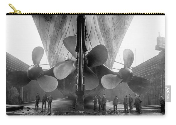 Rms Titanic Propellers Carry-all Pouch