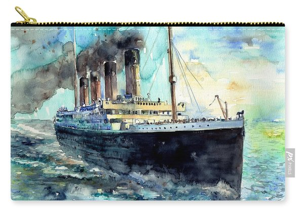 Rms Titanic White Star Line Ship Carry-all Pouch