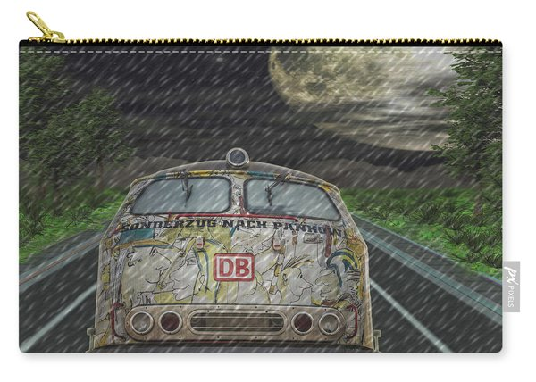 Road Trip In The Rain Carry-all Pouch