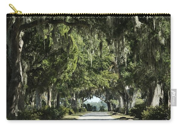 Road With Live Oaks Carry-all Pouch