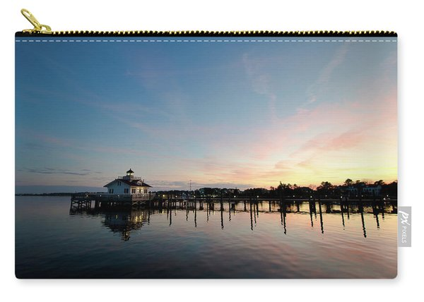 Roanoke Marshes Lighthouse At Dusk Carry-all Pouch