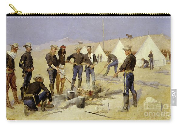 Roasting The Christmas Beef In A Cavalry Camp, 1892 Carry-all Pouch