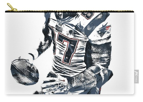 Rob Gronkowski New England Patriots Pixel Art 2 Carry-all Pouch