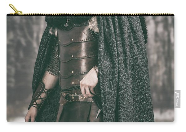 Robed Viking In The Woods Carry-all Pouch