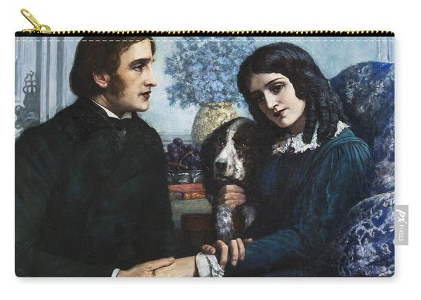 Robert Browning Visits Elizabeth Barrett At 50 Wimpole Street Carry-all Pouch