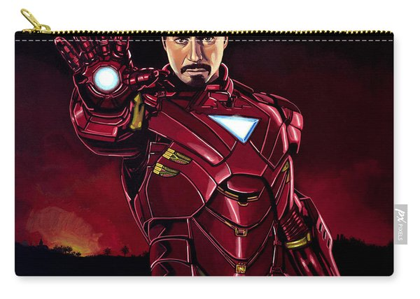 Robert Downey Jr. As Iron Man  Carry-all Pouch
