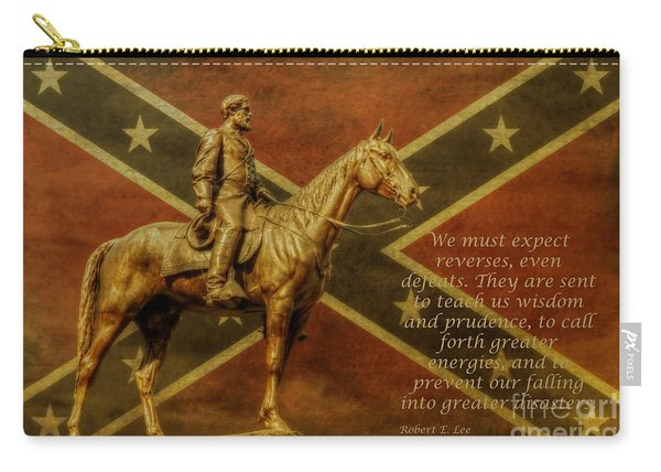 Robert E Lee Inspirational Quote Carry-all Pouch
