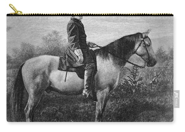 Robert E Lee On His Horse Traveler Carry-all Pouch