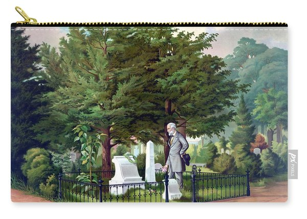 Robert E. Lee Visits Stonewall Jackson's Grave Carry-all Pouch