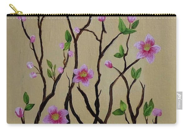Robin And Spring Blossoms Carry-all Pouch