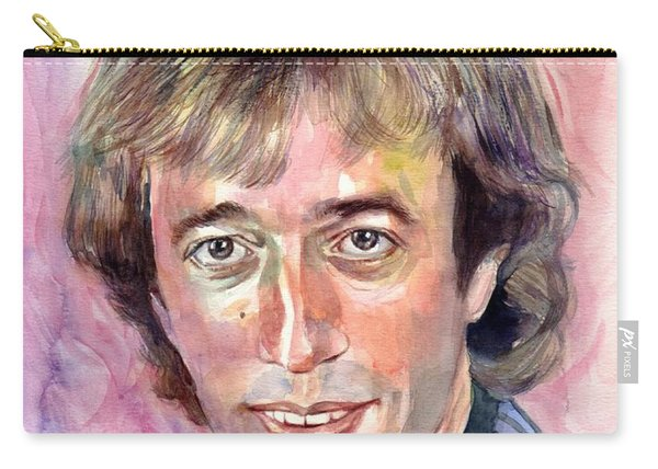Robin Gibb Portrait Watercolor Carry-all Pouch