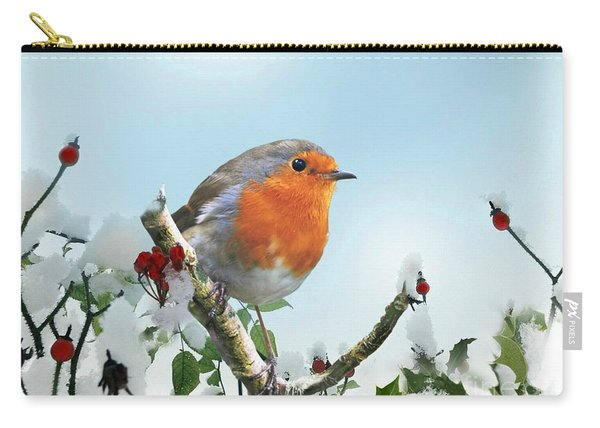 Robin In The Snow Carry-all Pouch