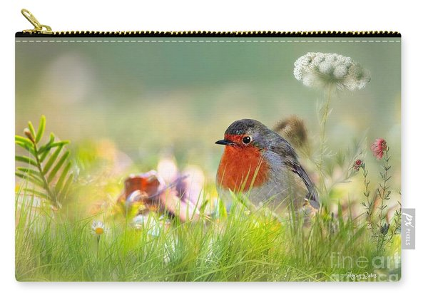 Robin Red Breast Carry-all Pouch