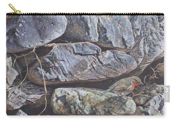 Carry-all Pouch featuring the painting Robins by Alan M Hunt