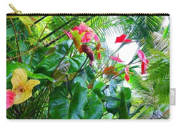 Robins Garden With Anthuriums And Ferns Carry-all Pouch