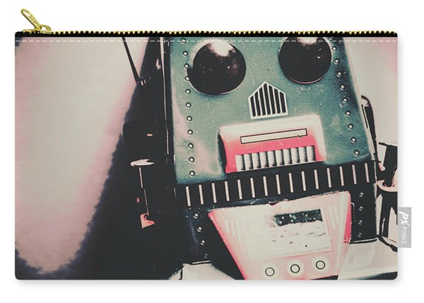 Robotic Mech Under Vintage Spotlight Carry-all Pouch