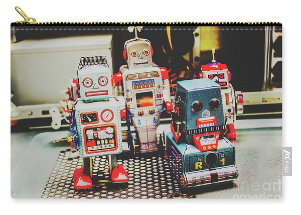Robots Of Retro Cool Carry-all Pouch