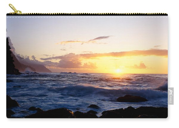 Rock At The Coast, Na Pali Coast Carry-all Pouch