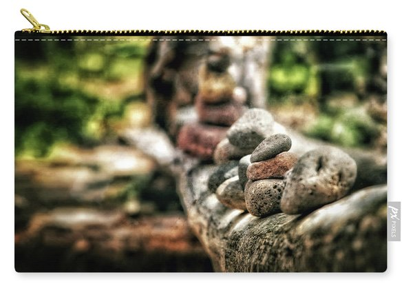 Rock Cairn At Buddha Beach Sitting On Tree Branch - Sedona Carry-all Pouch