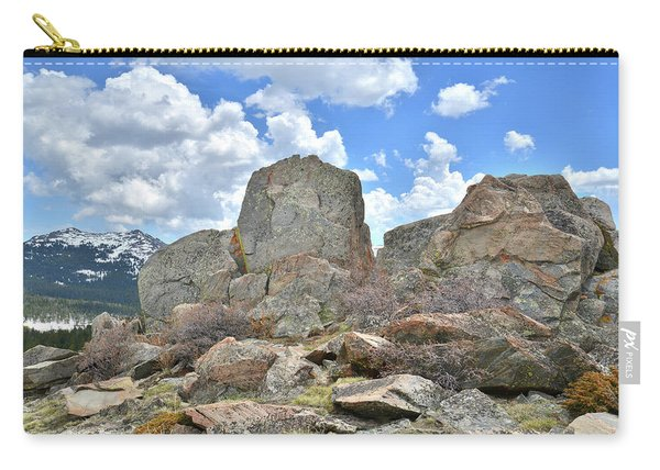 Rock Cropping At Big Horn Pass Carry-all Pouch