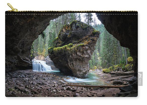 Rock In Johnston Canyon Carry-all Pouch