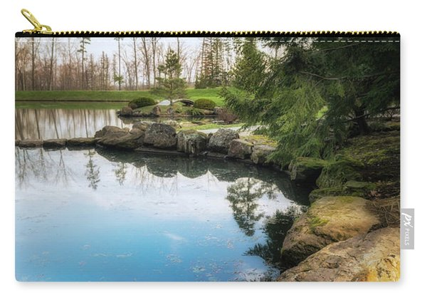 Rock Lined Pond Carry-all Pouch